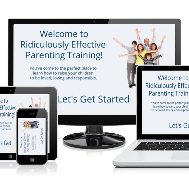 Several electronic devices showing the Ridiculously Effective Parenting Training