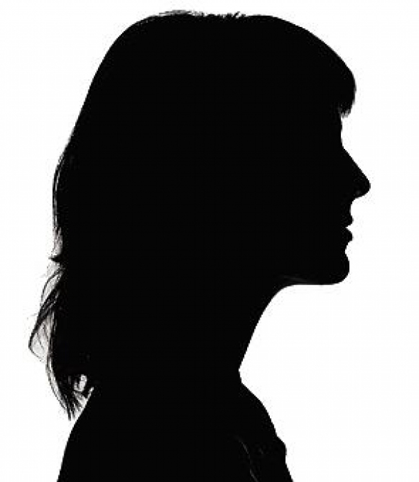 Silhouette of 15 year old girl