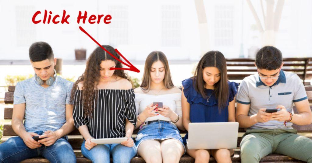 Teens addicted to electronics.