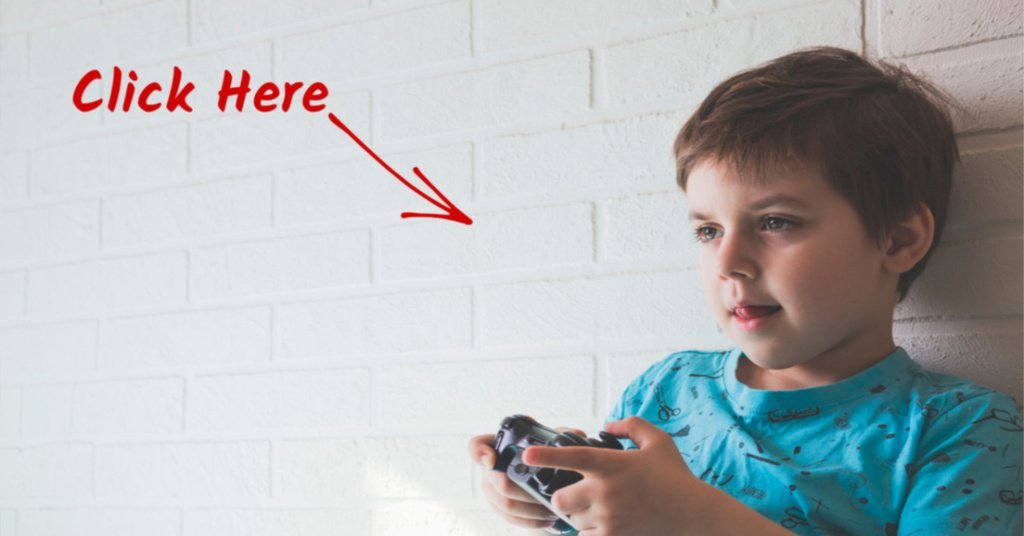 child addicted to Video Games