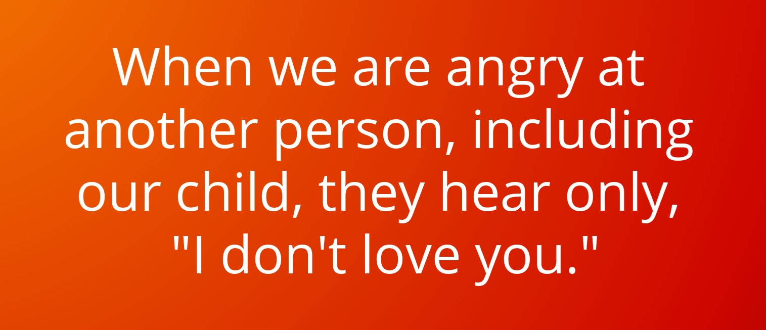 Anger= I don't love you.