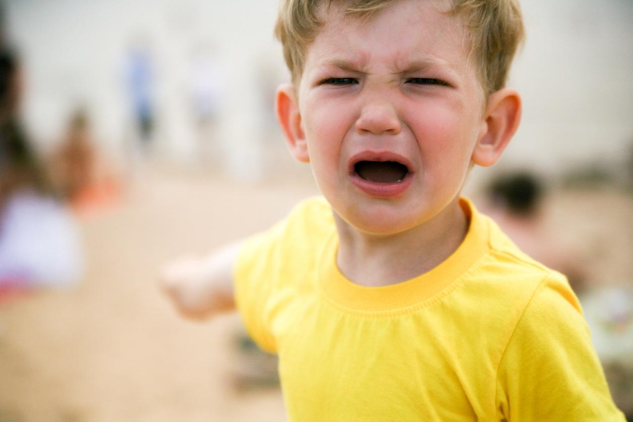 Whining boy